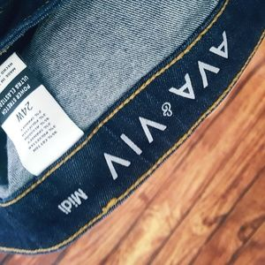 Mixed Intimate Items Ava & Viv Bermuda Jean Shorts Size 14 W